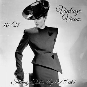 Denim - WEDNESDAY 10/21 Vintage Vixens Sign Up Sheet